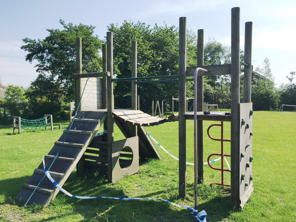 playground maintenance - Damaged Playground Tower
