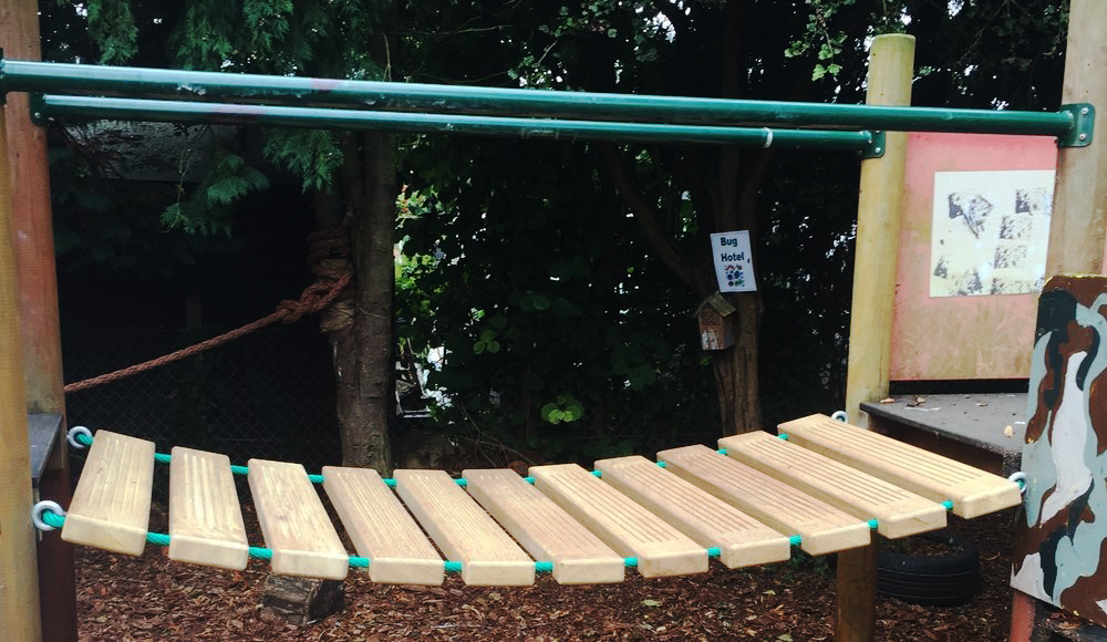 Wobbly Bridge Repaired Playscape Playgrounds