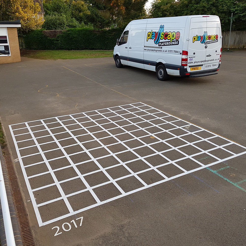 Playscape Playgrounds 10x10 Grid Playground markings