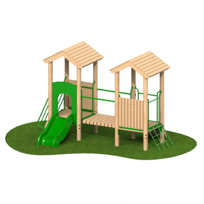 0.6m Double Deck 1 - Playscape Playgrounds