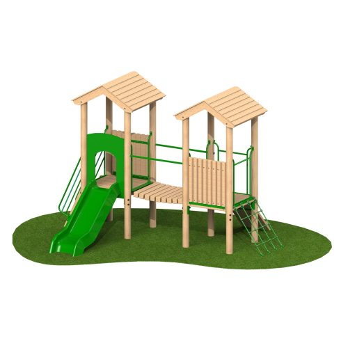 0.9m Double Deck 1 - Playscape Playgrounds