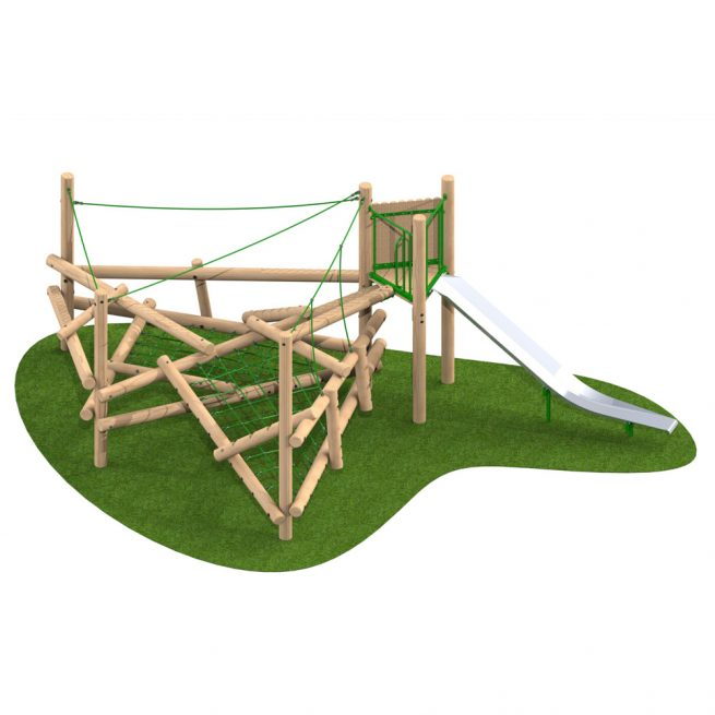 Climber Stack 3 with Slide - Playscape Playgrounds