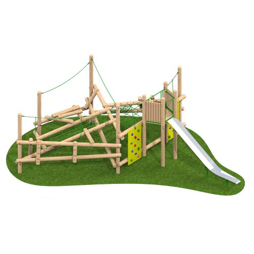 Climber Stack 5 with Slide - Playscape Playgrounds