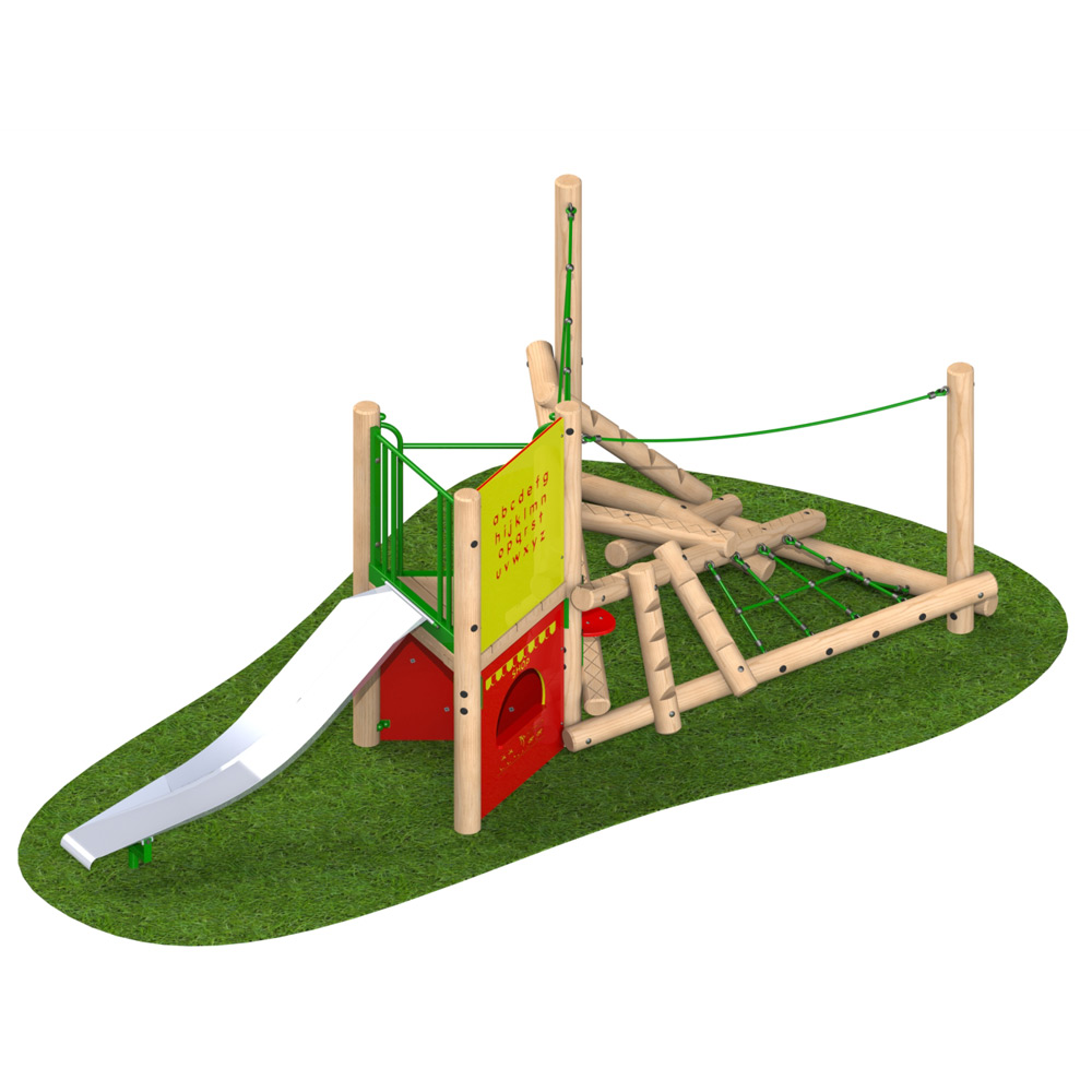 Climber Stack Midi with Steel Slide - Playscape Playgrounds