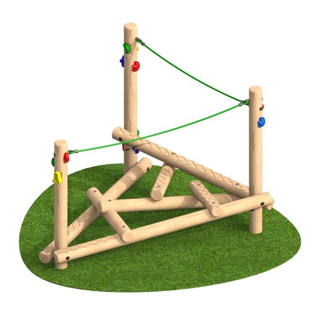 Climber Stack Piccolo with Ropes - Playscape Playgrounds