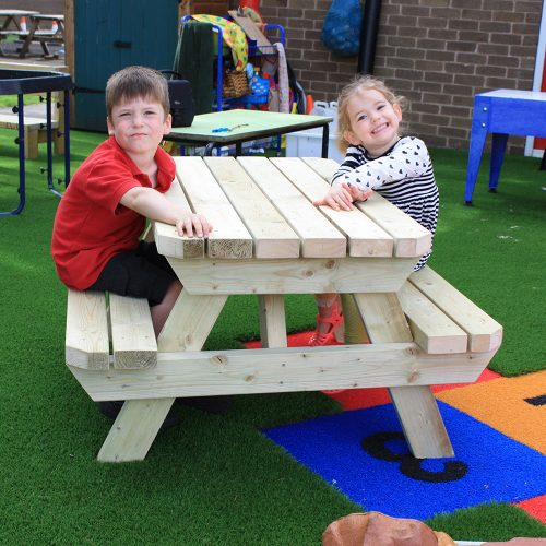 Daisy Bench - Child sized picnic bench - Playscape Playgrounds