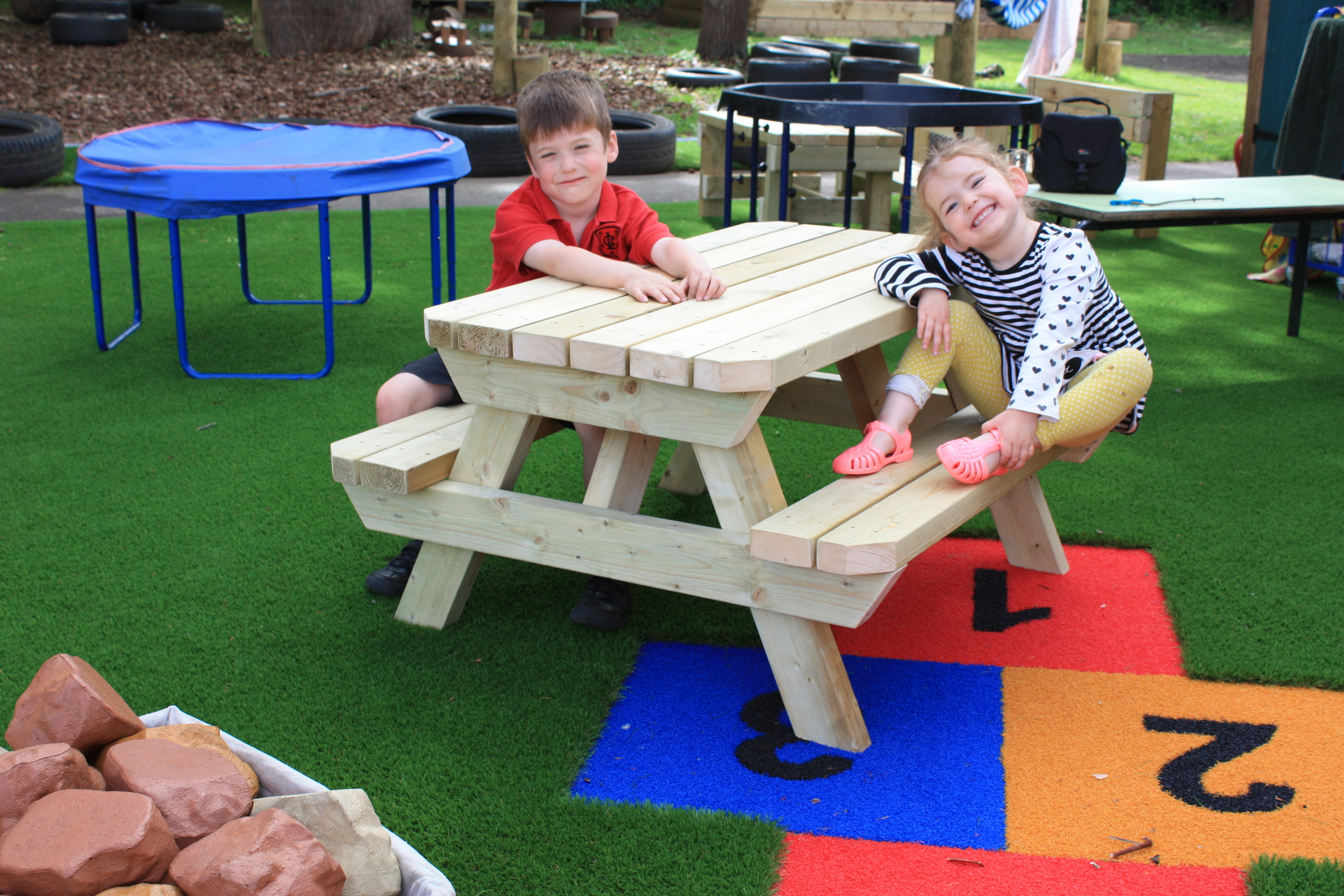 Playscape Playgrounds Daisy Picnic Bench