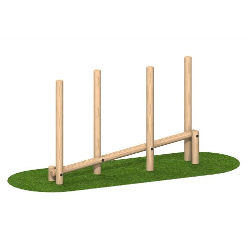 Playscape Playgrounds Sloping Balance Weave