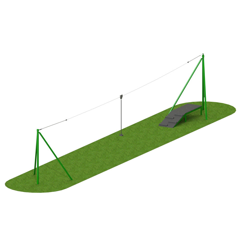 Steel 1 Way Aerial Runway - Playscape Playgrounds
