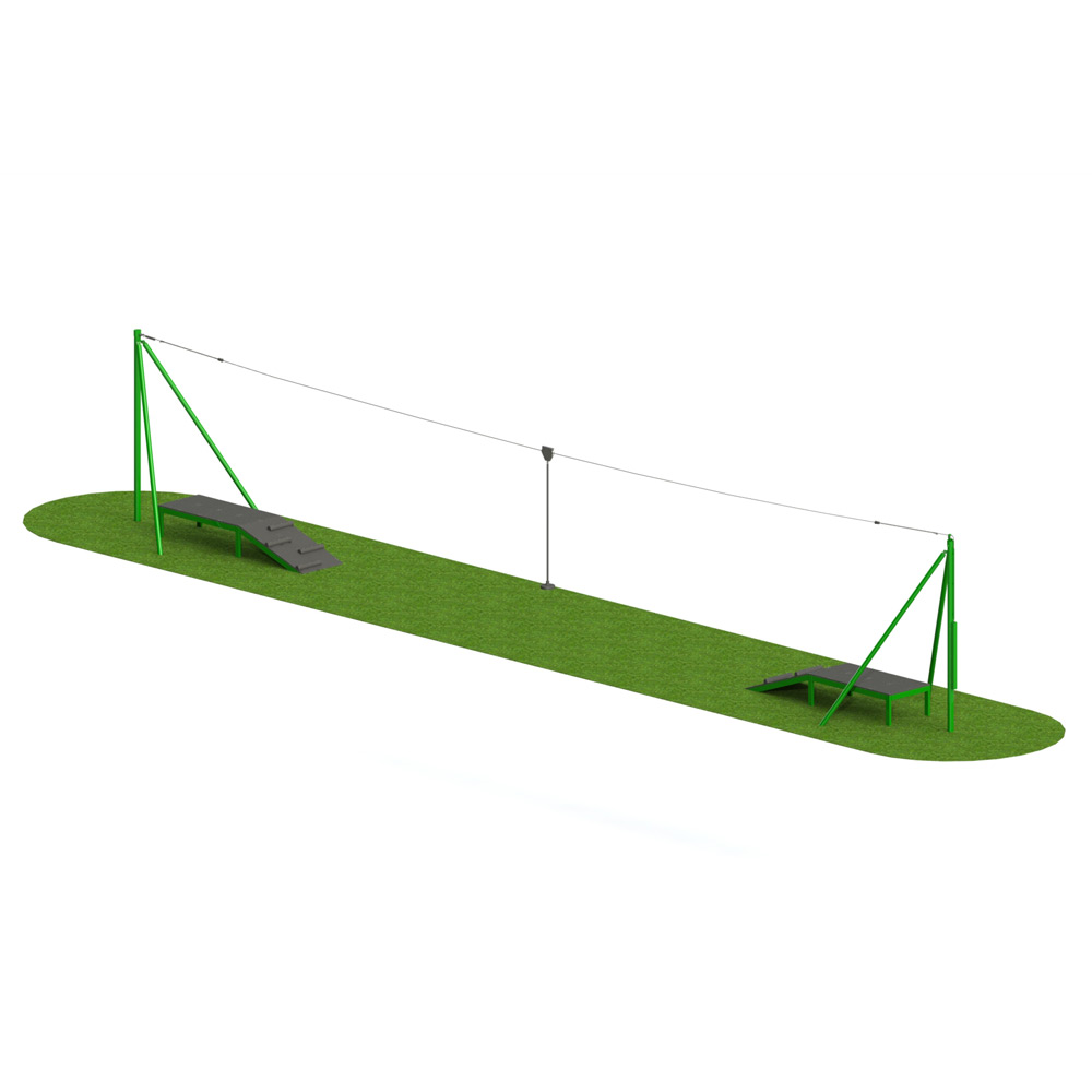 Steel 2 Way Aerial Runway - Playscape Playgrounds