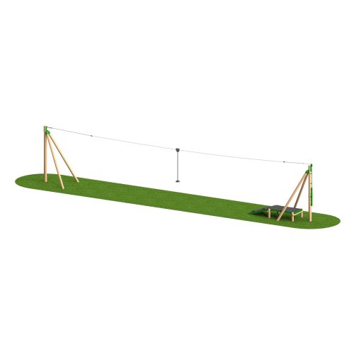 Timber Aerial Runway 1 Way - Playscape Playgrounds