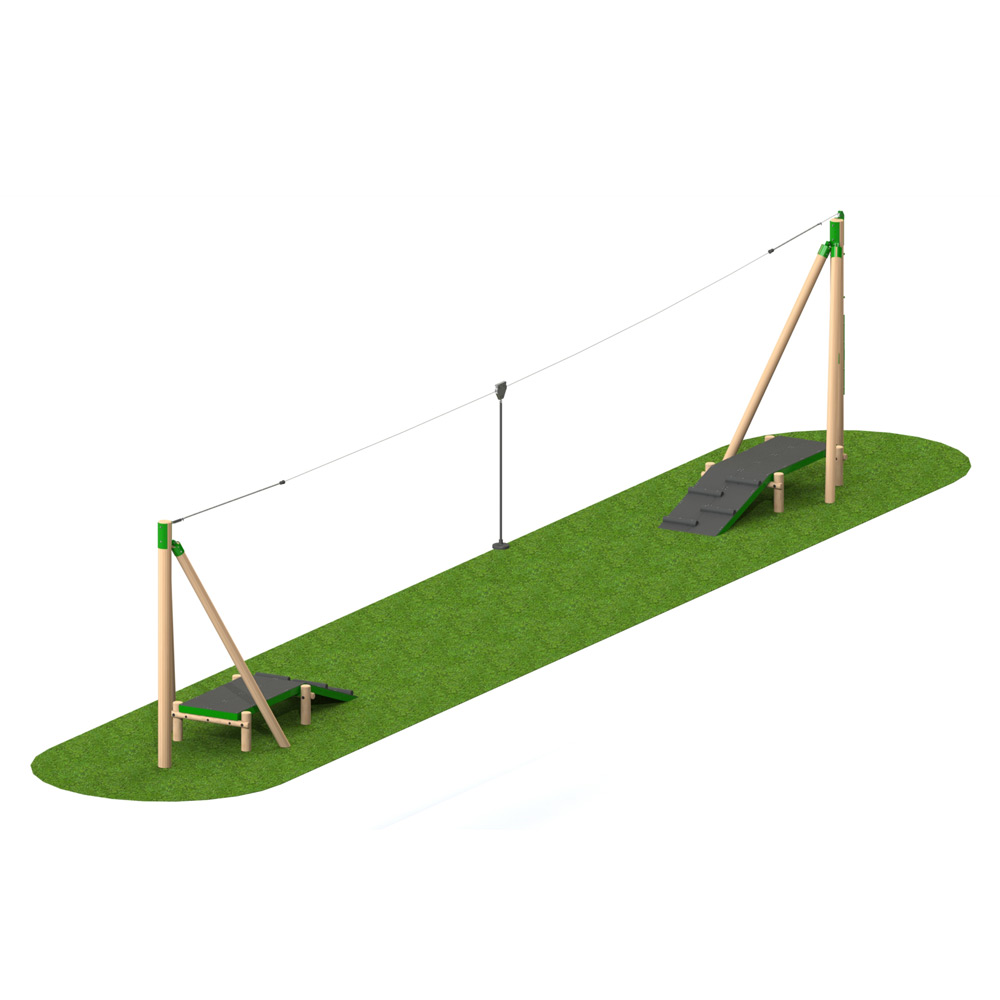 Timber Aerial Runway 2 Way - Playscape Playgrounds