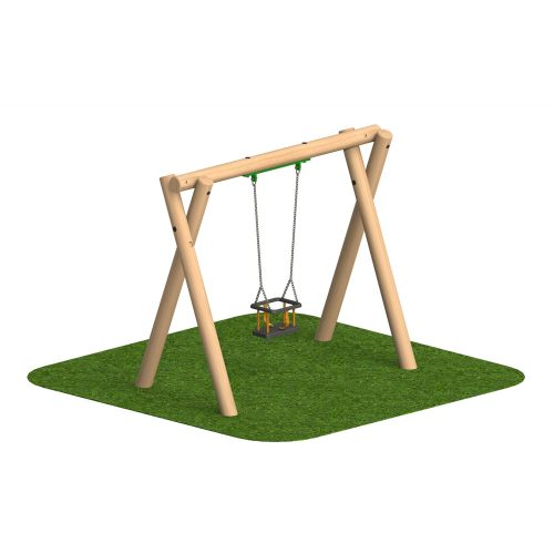 Timber Swing 1 Cradle Seat - Playscape Playgrounds