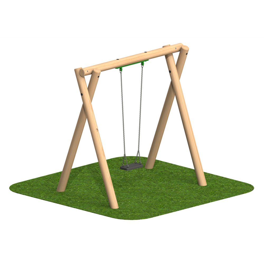 Timber Swing 1 Flat Seat - Playscape Playgrounds