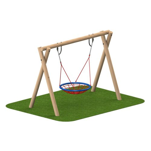 Timber Swing 1 Group Seat - Playscape Playgrounds