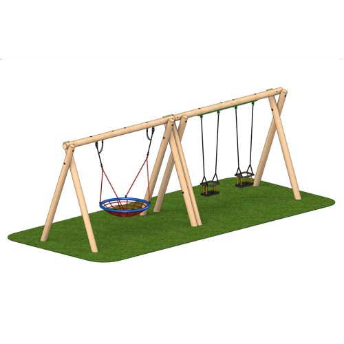 Timber Swing 2 Cradle Seat 1 Group Seat - Playscape Playgrounds