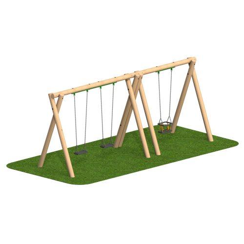 Timber Swing 2 Flat Seat 1 Cradle Seat