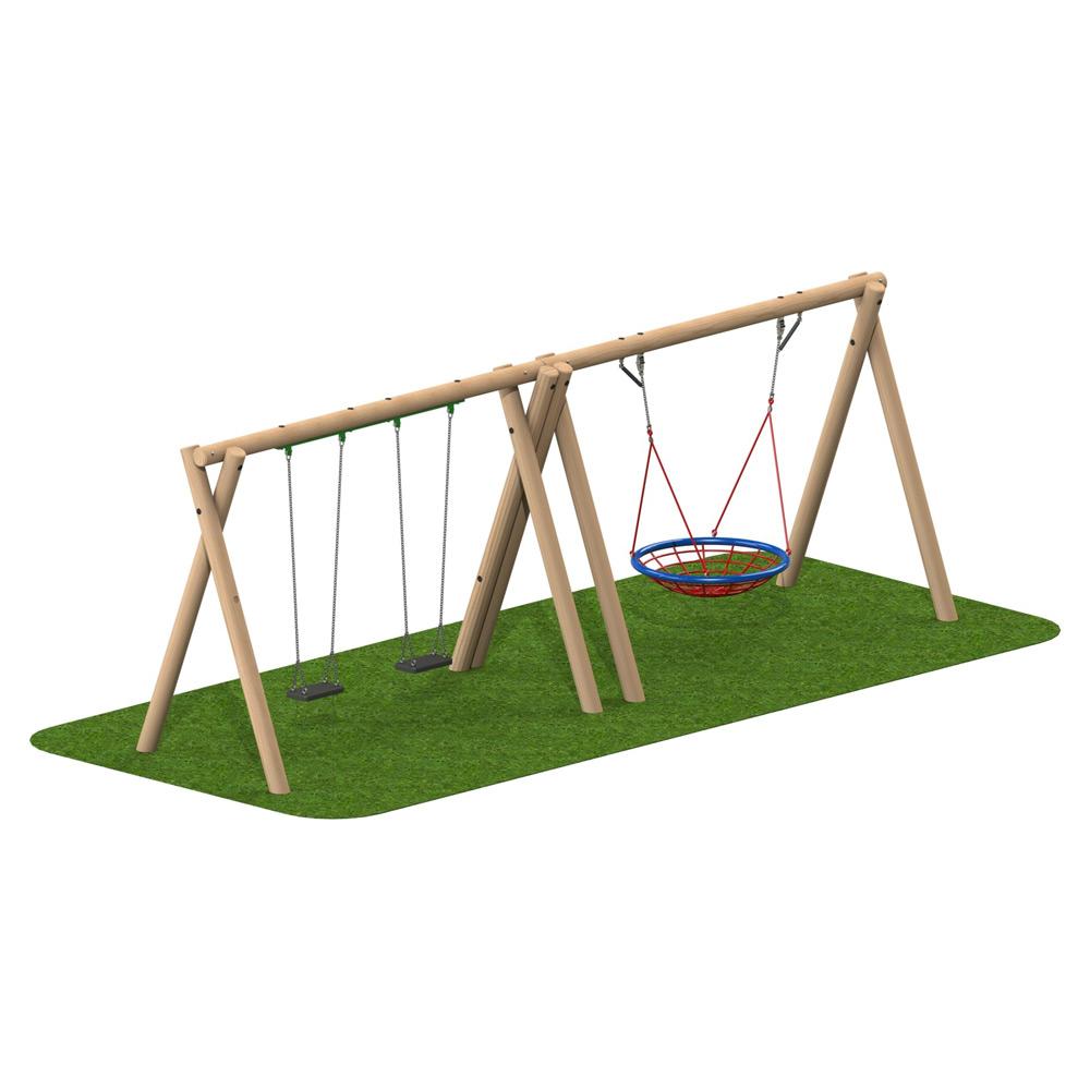 Timber Swing 2 Flat Seat 1 Group Seat