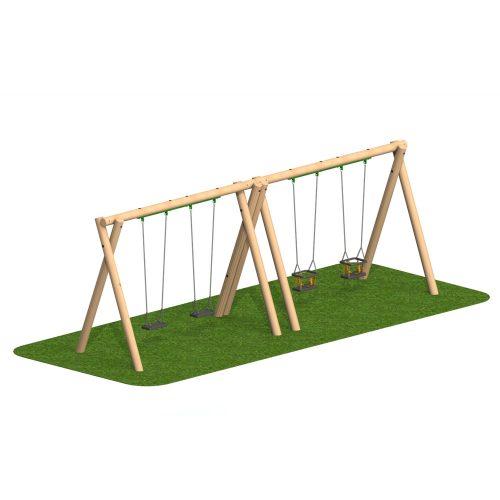 Timber Swing 2 Flat Seat 2 Cradle Seat