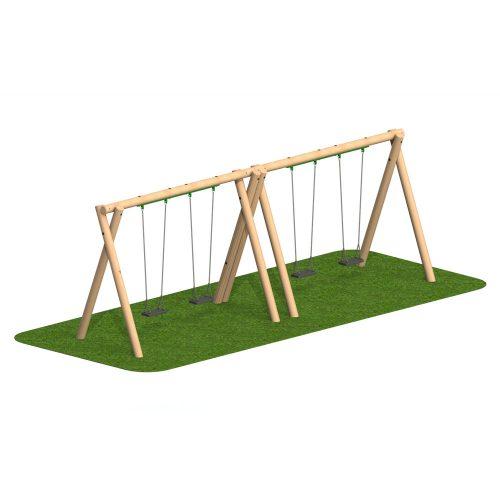 Timber Swing 4 Flat Seat