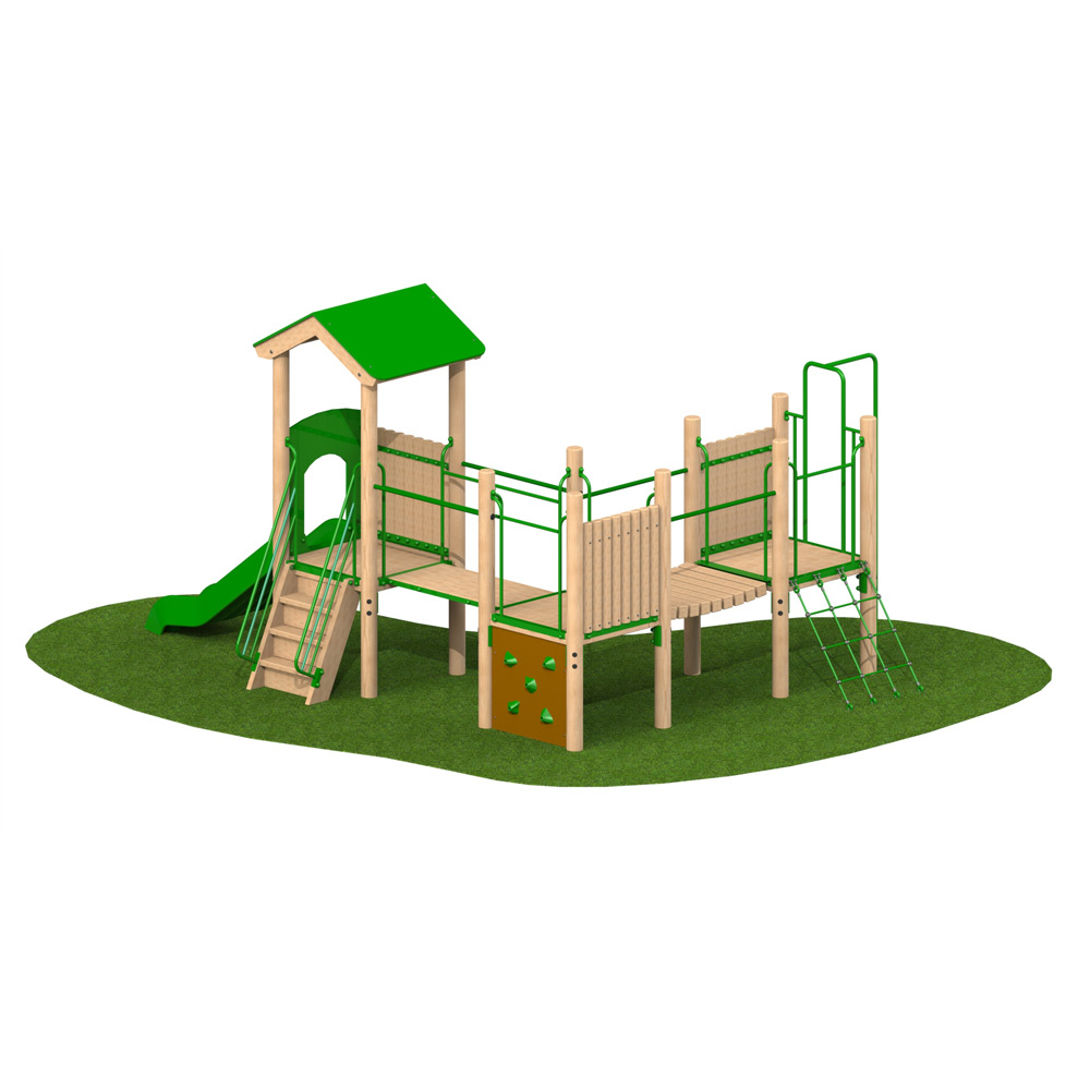 Triple Deck Unit 1 Reverse - Playscape Playgrounds