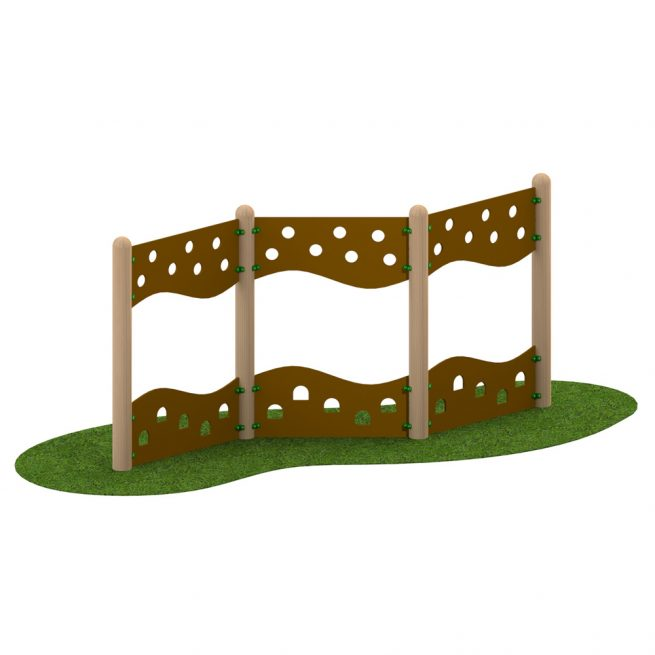 Playscape Playgrounds - Zig Zag Traverse Wall
