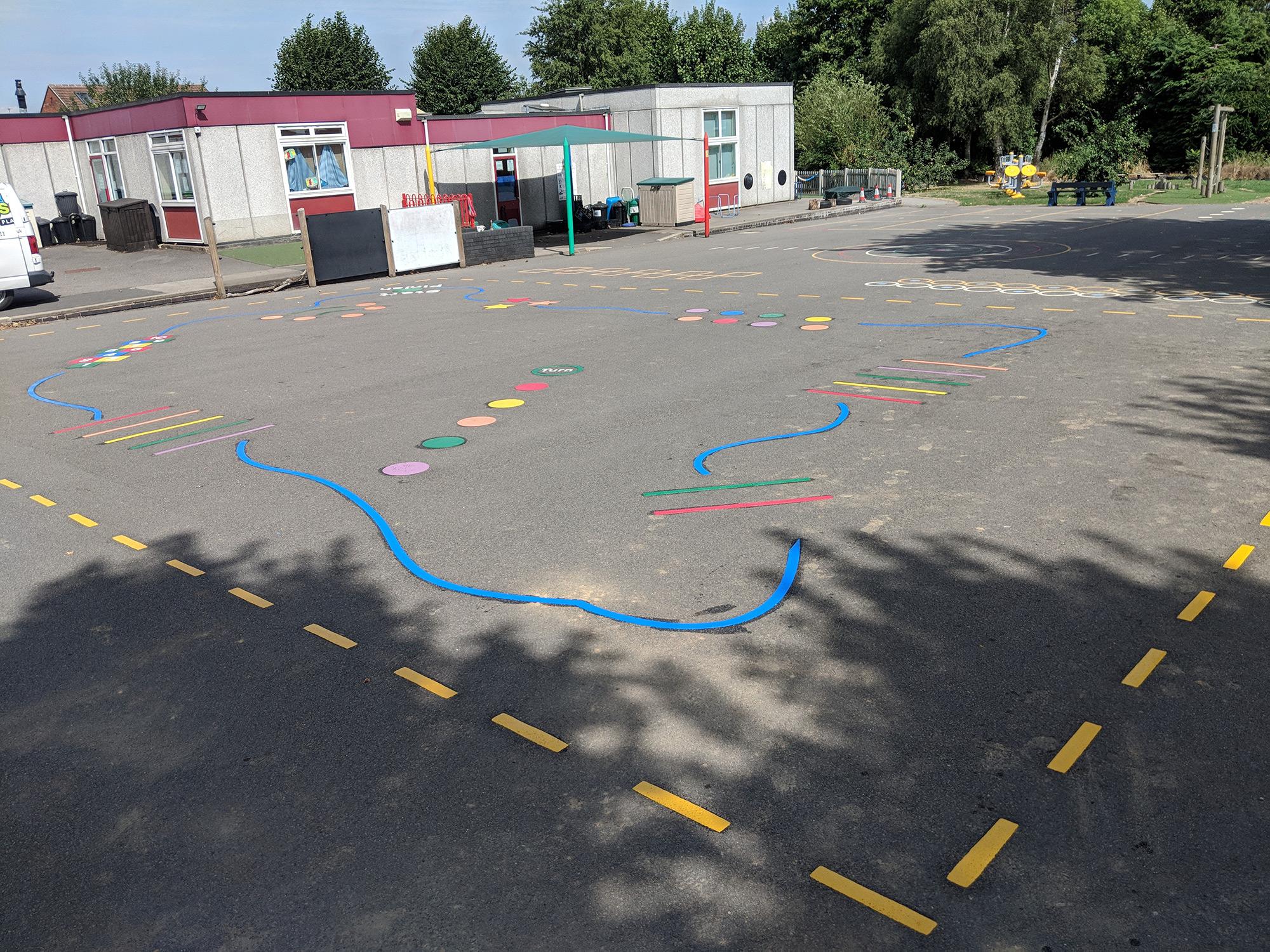 larklands ilkeston playground markings installation