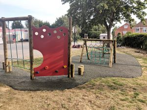 The trim trail was integral to the playground design at Larklands