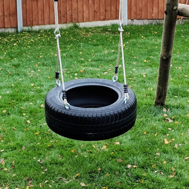 Garden Tyre Swing Seat - Playscape Playgrounds
