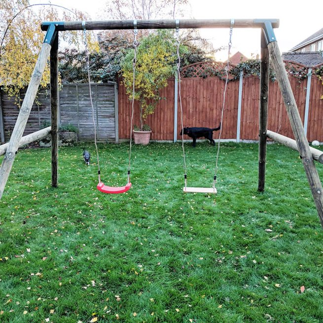 Double Garden Swing Set - Playscape Playgrounds 2