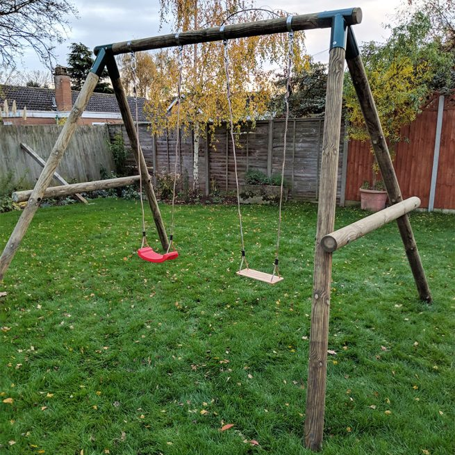 Double Garden Swing Set - Playscape Playgrounds 3