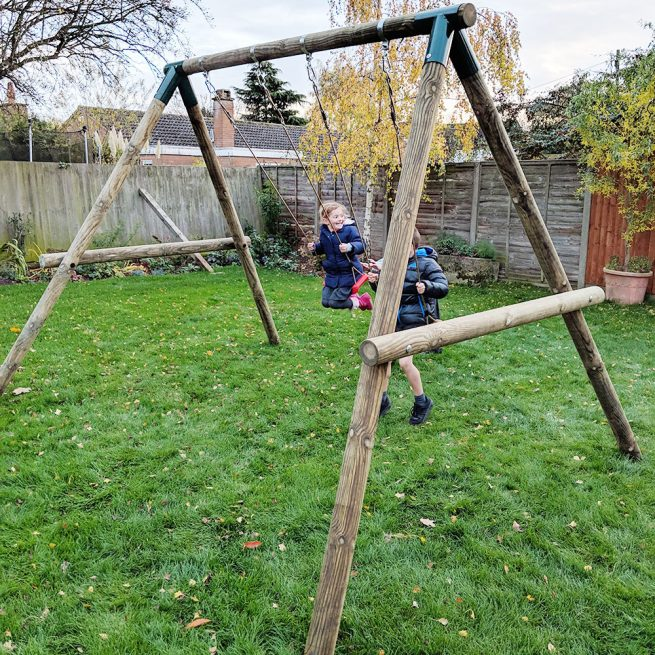 Double Garden Swing Set - Playscape Playgrounds 4