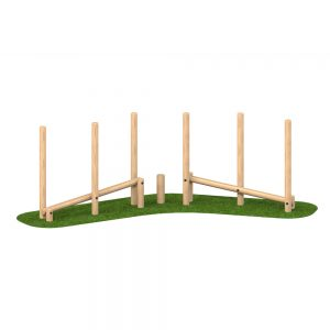 Playscape Playgrounds Double Sloping Balance Weave