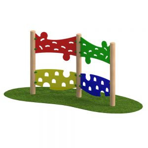 Playscape Playgrounds Jigsaw Traverse Wall