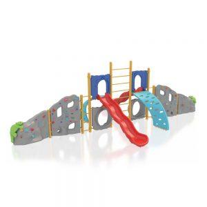 Modular Climbing Wall with Slide - PSCCA909