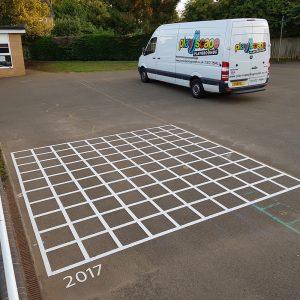 10x10 Grid Playground Markings