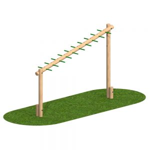 Playscape Playgrounds Sloping Monkey Bar