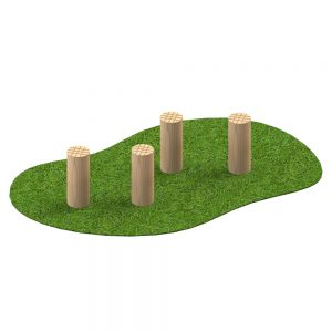 Playscape Playgrounds Stepping Logs 150mm