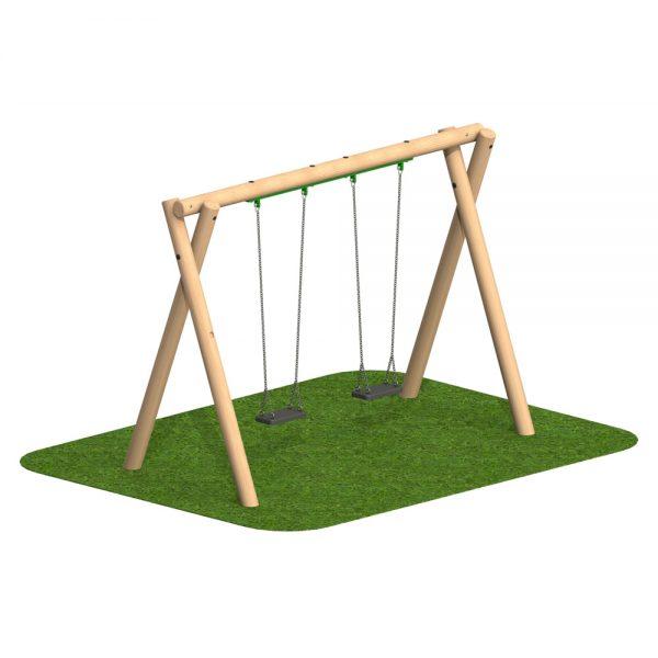 Timber Swing 2 Flat Seat